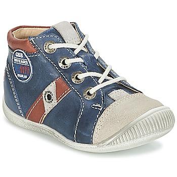 Scarpe Bambino Sneakers alte GBB SILVIO Marine / Marrone