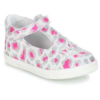 Scarpe Bambina Sandali GBB SABRINA Grigio / Rosa / Bianco