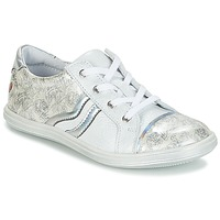 Scarpe Bambina Sneakers basse GBB SHARON Bianco / Argento