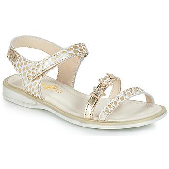 Scarpe Bambina Sandali GBB SWAN Bianco / Oro