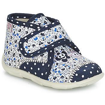 Scarpe Bambina Pantofole GBB PASCALINE Blu / Bianco