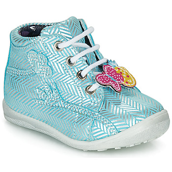 Scarpe Bambina Sneakers alte Catimini SALAMANDRE Blu / Argento