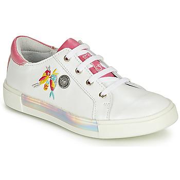 Scarpe Bambina Sneakers alte Catimini SYLPHE Bianco rosato / Bianco