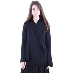 Abbigliamento Donna Gilet / Cardigan Archivio B CARDIGAN CON SCIALLE NERO Black
