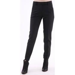 Abbigliamento Donna Chino Seventy PANTALONE  NERO CAPRI IN LANA STRETCH Black