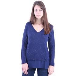 Abbigliamento Donna Maglioni White.7 MAGLIA CON SCOLLO A V Blue