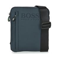 Borse Uomo Pochette / Borselli Hugo Boss Green HYPER T S ZIP Marine / Bianco