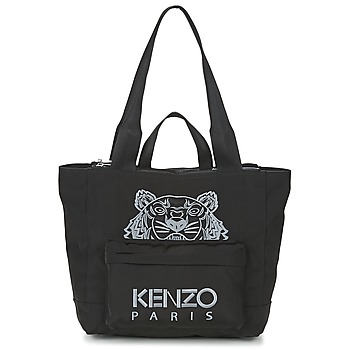 Borse Donna Tote bag / Borsa shopping Kenzo KANVAS TIGER TOTE LARGE Nero