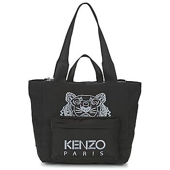 Borse Donna Tote bag / Borsa shopping Kenzo KANVAS TIGER TOTE LARGE Nero