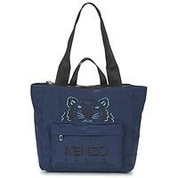 Borse Donna Tote bag / Borsa shopping Kenzo KANVAS TIGER TOTE LARGE Marine