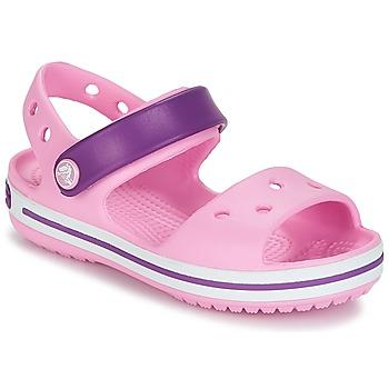 Scarpe Bambina Sandali Crocs CROCBAND SANDAL Pink / Purple