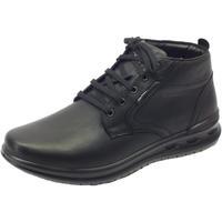 Scarpe Uomo Sneakers alte Grisport Scarponcini  Active in pelle nera fondo antistatico Nero