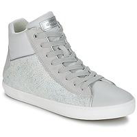 Scarpe Bambina Sneakers alte Geox J KILWI G. H Grigio / Argento