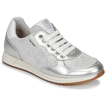 Scarpe Bambina Sneakers basse Geox J JENSEA G. D Grigio / Argento