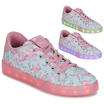 Scarpe Bambina Sneakers basse Geox J KOMMODOR G. B Blu / Rosa