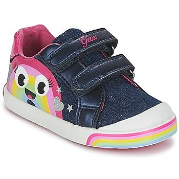 Scarpe Bambina Sneakers basse Geox B KILWI G. C Jeans / Rosa