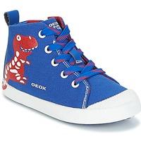 Scarpe Bambino Sneakers alte Geox B KILWI B. F Blu / Rosso