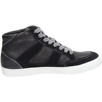 Scarpe Uomo Sneakers alte Armani jeans B6531 Blu
