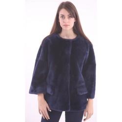 Abbigliamento Donna Giubbotti Desa PELLICCIA CORTA  COLOR BLU Blue