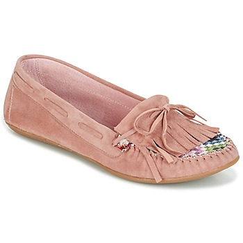 Scarpe Donna Mocassini Ippon Vintage MOC-WAX-ROSE Rosa