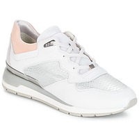 Scarpe Donna Sneakers basse Geox D SHAHIRA B Bianco / Argento