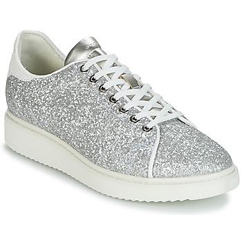 c49e288f8f8d3 Scarpe Donna Sneakers basse Geox D THYMAR C Argento   Bianco. Registrare.  Prezzi bassi