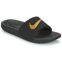 Scarpe Unisex bambino ciabatte Nike KAWA GROUNDSCHOOL SLIDE Nero / Oro