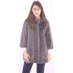 Abbigliamento Donna Gilet / Cardigan Schneiders CAPPOTTO DOUBLE  IN LAPIN GRIGIO Grey