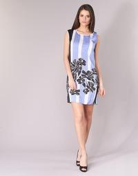 Abbigliamento Donna Abiti corti Sisley LAPOLLA Blu / Bianco / Nero