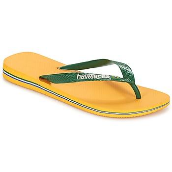 Scarpe Infradito Havaianas BRAZIL LOGO Giallo