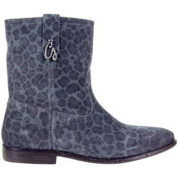 Scarpe Donna Stivaletti Guess Vivan Printed Suede Bootie Blue