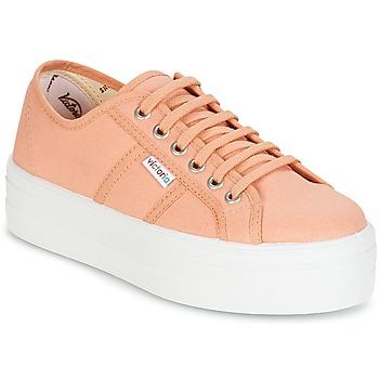 Scarpe Donna Sneakers basse Victoria BLUCHER LONA PLATAFORMA Arancio