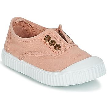 Scarpe Bambina Sneakers basse Victoria INGLESA LONA TINTADA Rosa