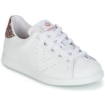 Scarpe Unisex bambino Sneakers basse Victoria DEPORTIVO BASKET PIEL KID Bianco