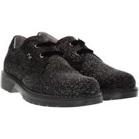 Scarpe Unisex bambino Sneakers basse Nero Giardini scarpe junior stringate A732550F/100 NERO ARGENTO (35/39) Pelle