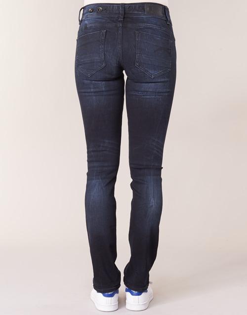 Midge Donna Blu Gratuita 9100 Mid star Raw Saddle Straight Jeans Dritti Consegna G Abbigliamento shQCrxtd