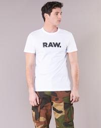 Abbigliamento Uomo T-shirt maniche corte G-Star Raw HOLORN R T S/S Bianco