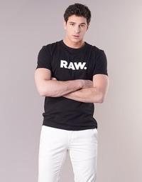 Abbigliamento Uomo T-shirt maniche corte G-Star Raw HOLORN R T S/S Nero