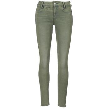 Abbigliamento Donna Pantaloni 5 tasche G-Star Raw D-STAQ 5-PKT MID SKINNY COJ WMN Light / Hunter