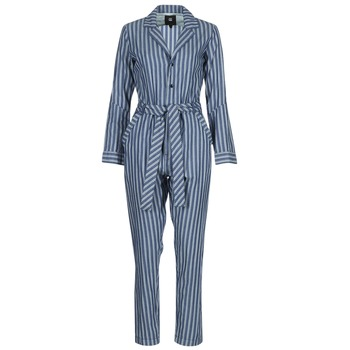 Abbigliamento Donna Tuta jumpsuit / Salopette G-Star Raw DELINE JUMPSUIT WMN L/S Blu / Bianco