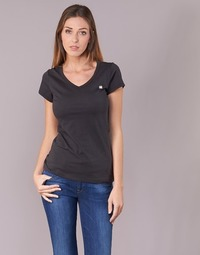 Abbigliamento Donna T-shirt maniche corte G-Star Raw EYBEN SLIM V T WMN S/S Nero