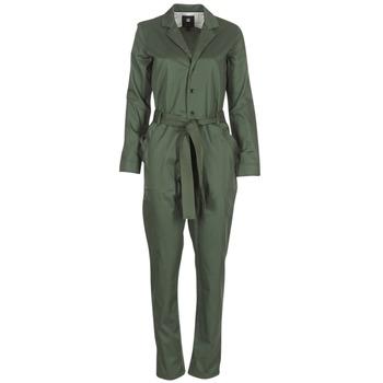 Abbigliamento Donna Tuta jumpsuit / Salopette G-Star Raw DELINE JUMPSUIT WMN L/S Kaki