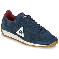 Scarpe Uomo Sneakers basse Le Coq Sportif QUARTZ PERFORATED NUBUCK Blu / Rosso