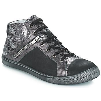 Scarpe Bambina Sneakers alte GBB KAMI Nero / Argento