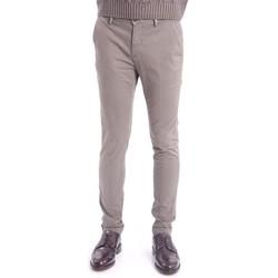 Abbigliamento Uomo Chino Yan Simmon PANTALONI IN RASO GRIGIO Grey