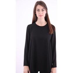 Abbigliamento Donna T-shirts a maniche lunghe White.7 T-SHIRT  NERA MODELLO OVER Black