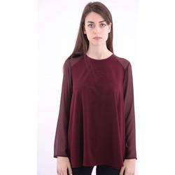 Abbigliamento Donna T-shirts a maniche lunghe White.7 T-SHIRT  BORDEAUX MODELLO OVER Red
