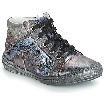 Scarpe Bambina Sneakers alte GBB ROSETTA Grigio / Blu