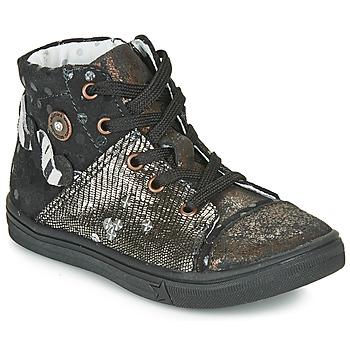 Scarpe Bambina Sneakers alte Catimini ROUSSEROLLE Nero / Oro