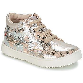 Scarpe Bambina Sneakers alte GBB SACHA Beige / Argento